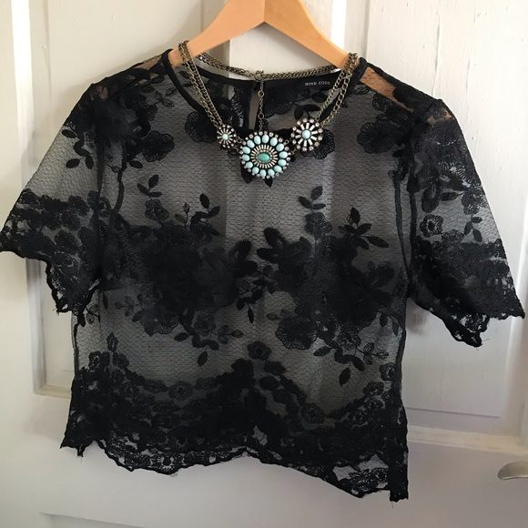 Urban Outfitters Tops - Sheer Lace Top